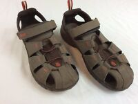 Teva Womens Size 6 Full Strap Dark Brown And Red Hiking Sandals Shoes