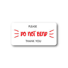 Please Do Not Bend Stickers