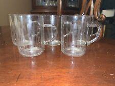 "JENAER GLAS Glass 5 Cups Mugs 3.5"" Germany VINTAGE MCM spray Pattern"