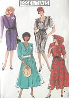 RARE USED VINTAGE 1989 SIMPLICITY DRESS SEWING PATTERN SIZE 6-14 FREE UK POST