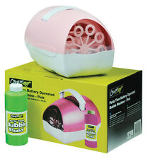 Battery or Mains Large Pink Party Time Bubble Machine (up To150 Bubbles per Min)