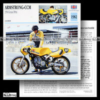 #068.10 ARMSTRONG-CCM 350 GRAND PRIX 1982 Fiche Moto Motorcycle Card