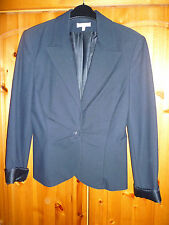 KOOKAI BLACK BLAZER WITH BUTTON UP FRONT AND RUCHING - SIZE 12