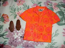 1970 Pak Sun Fun Ken Brad Barbie Mattel Mod Vintage Shirt/Sandals