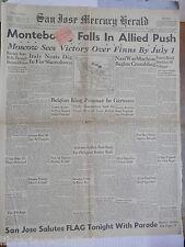 Alleati prendono Orvieto Padre di Churchill Clark Eisenhower sbarco in Normandia