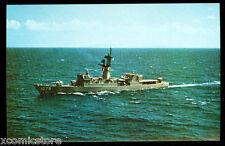 """USS Bowen FF-1079 postcard US Navy Knox-class Frigate """"First to Shoot in Beirut"""""""