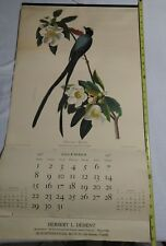 VTG Lot of 4 John J. Audubon Prints 16 by 20 northwestern mutual calendar  1957