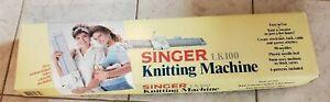 Vintage Singer LK100 Knitting Machine with  Original Box