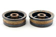 A pair of Soholm candlesticks Danish 1960's 70's pottery. Stoneware