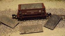 N-Scale 4 Single Bay Ore Car Loads 1:160 Model Train Detail Parts