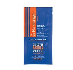 Fanola No Orange Mask Colour Blonde Hair Toner Blue Pigment Hair Care 15 ml UK