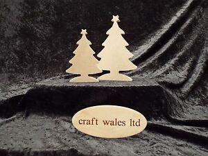 Christmas Tree Shape MDF 200mm & 150mm x 18mm Freestanding wooden