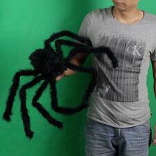 Black 3D Spider Hairy Halloween Decoration Haunted House Prop Indoor Tricks Toys