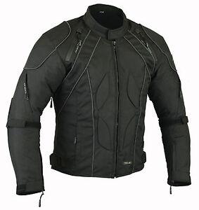 Mens RIDEX CJ2 Motorbike Motorcycle Jacket Windproof/ Waterproof With CE Armours