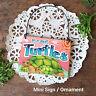 DECO Mini Fun Sign Ornament TURTLE SIGN door hanger tortoise turtles tortuga