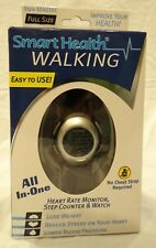 Smart Health Walking Heart Rate Monitor Step Counter/Watch BLACK EZ4U301 LG SIZE