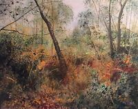 "NEW DAVID ALDUS ORIGINAL ""The Orange Wood"" Landscape rural country OIL PAINTING"