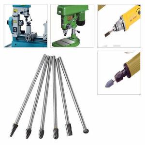 6pcs Tungsten Carbide Aluminum Rotary Files Burr Set 6mm Shank 10mm Cutting Tool