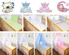 Baby Bettset Bettwäsche mit Applikation für Bett 70x140 Himmel Nestchen