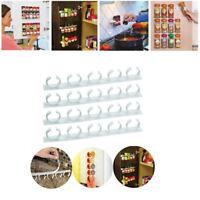 Useful Kitchen Wall Cabinet Spice Gripper Clip Strip 20 Jar Rack Storage Holder