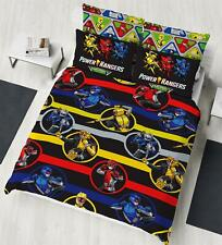 Power Rangers Double Duvet Cover Beast Morphers Design Reversible Bedding Set
