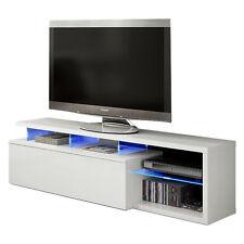 Habitdesign 026630bo - modulo de TV moderno mueble Salon color blanco brillo