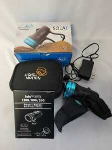 Light & Motion 800 Sola Dive Light with Charger and Bag