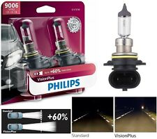 Philips VIsion Plus 60% 9006 HB4 55W Two Bulbs Head Light Replacement Upgrade OE