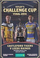 * CASTLEFORD v LEEDS 2014 CHALLENGE CUP FINAL PROGRAMME (23rd AUGUST) WEMBLEY *