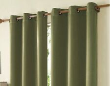 (2) Mckenzie Moss Green Grommet Panels Curtains 42x63 Pair NEW