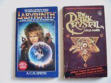 A.C.H. Smith--LABYRINTH + THE DARK CRYSTAL 1st ed 1st ptg PBOs