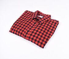 Filippa K. Ajustado Hombres Camisa de Cuadros Talla L