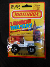 1981 MATCHBOX No 20 CJ5 Jeep 4x4 white DESERT DAWG off road SUPERFAST new in box