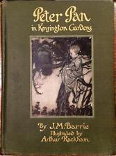 1916 PETER PAN ARTHUR RACKHAM J.M. BARRIE ILLUSTRATED CHILDRENS BOOK