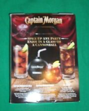NEW CAPTAIN MORGAN SPICED RUM CANNONBALL CUP NOVELTY PIRATE BOOTY ORIGINAL BOX