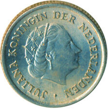 Netherlands, Juliana, 10 Cents, 1958, BU UNC FULL LUSTRE  #WT5046