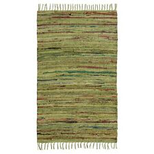 Fair Trade 60x90 75x120 Cotton Chindi Rag Rugs Green Grey Mauve Purple Pink Blue