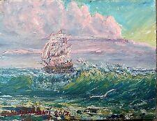 6/8 IN.oil painting original.cardboard. A.Vodyanovskii .russian art.plain air.