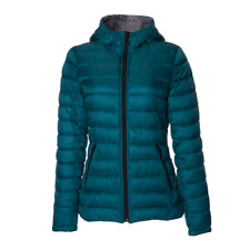 HFX Women's Lightweight Packable Puffer Winter Jacket Teal/Silver M