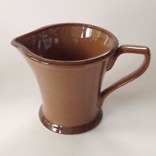 "Interiors Co. PRAIRIE Pattern EUC Creamer Adobe Red 3.75"" Tall Indonesia"