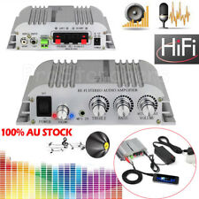 HiFi 2.1CH Stereo Audio Amplifier Super Bass Music AMP Output +AC Power Adapter