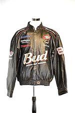 Bud Budweiser Dale Earnhardt Jr. Snap-On Nascar #8 Jacket 100% Leather Size 2XL