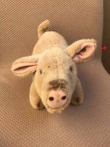 Vintage STEIFF PIG w/ Button In The Ear