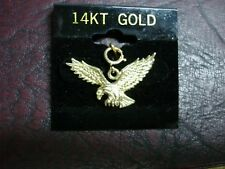 14K DETAILED  EAGLE CHARM  EASY ATTACH SOLID GOLD BEAUTY