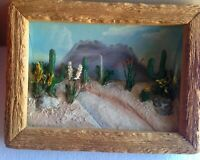 Final Markdown Rare Vintage Early 1950's Desert Scene In Relief Diorama