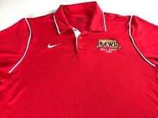 Ball State Bowl Polo Shirt Mens Large Nike Dri-Fit 2013 Football Cardinals Grad