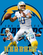 L.A. Chargers Lithograph print of Justin Herbert  2020