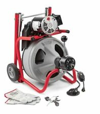 New Listingridgid K 400af Autofeed Drain Cleaning Drum Machine C 32 38 In Wound Cable