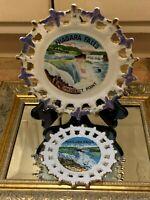 ACAPSCO VINTAGE NIAGARA FALLS CANADA PROSPECT POINT SOUVENIR PLATES LOT 2