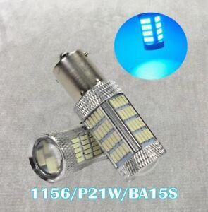Rear Signal 1156 BA15S 3497 1141 7506 P21W 92 LED Ice Blue Bulb W1 Euro E